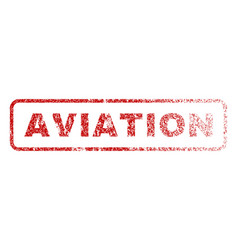 Aviation rubber stamp vector