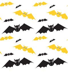 Bats seamless pattern halloween style vector