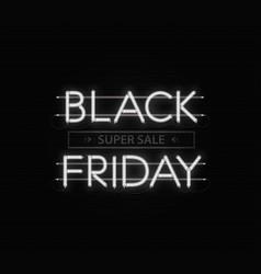 Black friday sale banner black friday neon vector