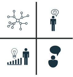 Board icons set collection of opinion analysis vector