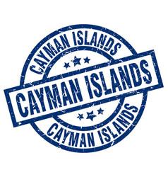 Cayman islands blue round grunge stamp vector