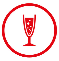 champagne glass rounded icon vector image