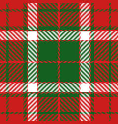 christmas tartan plaid seamless pattern vector image