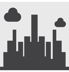 city silhouette icon vector image
