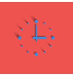 Clock logo modern idea interval time icon red vector image vector image
