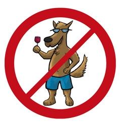 Dog no cartoon vector