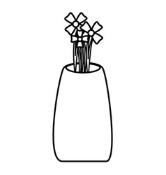 Flower vase isometric icon vector