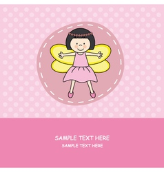 girl with princess costume vector image