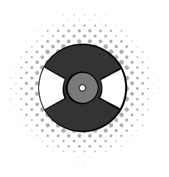 Gramophone vinyl LP record icon vector image
