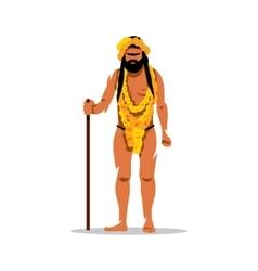 Hindu man in festival kumbh mela cartoon vector