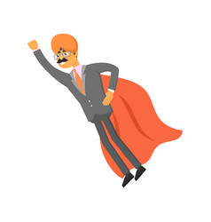 indian businessman with cloak of superman vector image