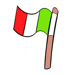 Italy flag icon cartoon vector