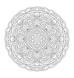 Mandala Vintage hand drawn decorative vector image vector image