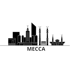 Mecca architecture city skyline travel vector