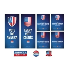 Presidential election banner or poster set vector