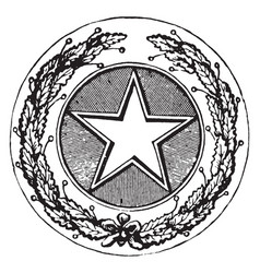 Seal of the state of texas 1904 vintage vector