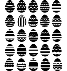 Seamless pattern made of stylized eggs vector image vector image