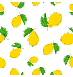 seamless pattern with lemons color on vector image vector image