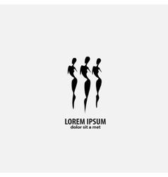 shop logo fashion girl vector image vector image