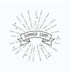 Summer camp inspirational vector