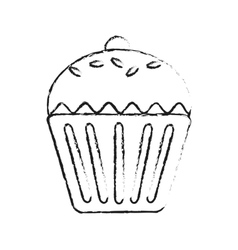 Sweet cupcake icon vector
