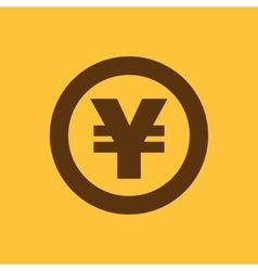 The yen icon Cash and money wealth payment vector image