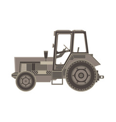 tractor flat icon of a farmer vehicle in design vector image vector image