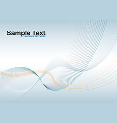 wave stroke vector image