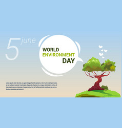 world environment day ecology protection holiday vector image vector image