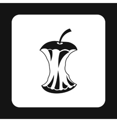 Apple core icon simple style vector