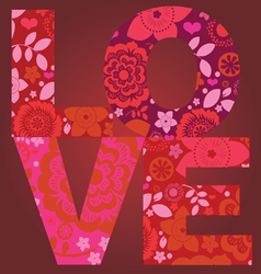 Valentine day love message floral post card vector