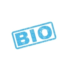 Bio rubber stamp vector