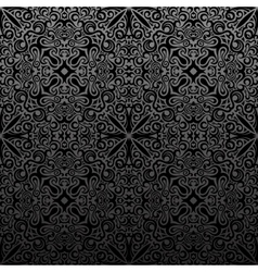 Seamless islam pattern Vintage black floral vector image