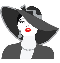 Beautiful elegant lady portrait vector