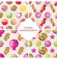 Lollipop patterns vector