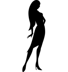 Black young woman silhouette vector