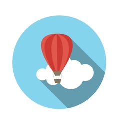 Flat design concept balloon with long shadow vector