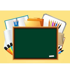 back to school montage vector image