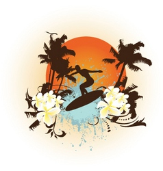 surfing background vector image