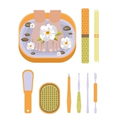 Set of pedicure tool vector