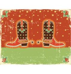 cowboy christmas vector image