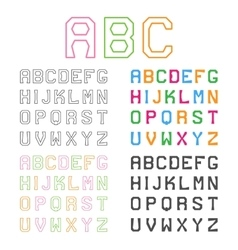 Geometric alphabet line font graphic abc vector