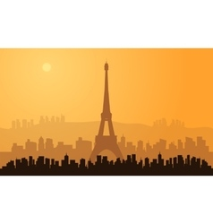 Silhouette of paris city vector