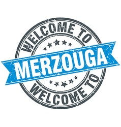 Welcome to merzouga blue round vintage stamp vector