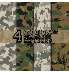 Set of camouflages vector