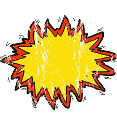 Grunge cartoon explosion sign vector