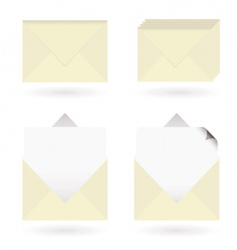 business envelopes open vector image