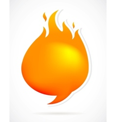 Hot speech bubbles with fire vector image