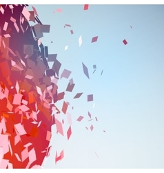 Abstract background with broken surface explosion vector image