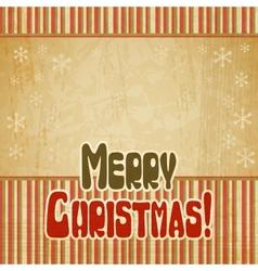 Retro merry christmas background vector